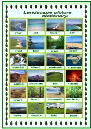 English Worksheet: Landscape picture dictionary