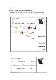 English Worksheet: Rebus