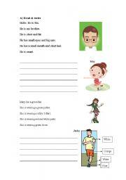 English Worksheets: P.1 writing