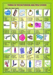 english teaching worksheets the bathroom