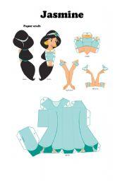 English Worksheets: Jasmine papercraft