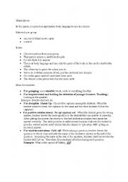 English Worksheets: silent movie- a very enjoyable game for kids and adults
