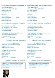 English Worksheet: PRESENT PERFECT - SONG