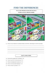 English Worksheet: FIND THE DIFFERENCES