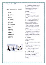 English Worksheet: GREY´S ANATOMY WORKSHEET s01e03