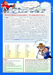 English Worksheet: WINTER.
