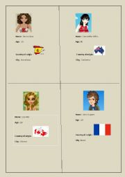 English Worksheets: who are they? where are they from? How old are they? (2)