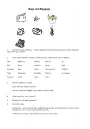 English Worksheet: Airport and Travel vocabulary