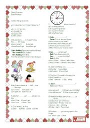 English Worksheet: test for 4th grade