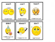 English Worksheet: contraction flashcards 1 of 7