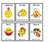 English Worksheets: contractions 2/7