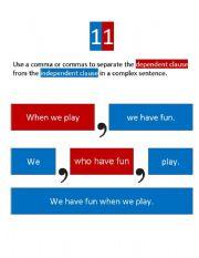 Beginning Punctuation Rules 11 -17 (visuals)