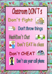 photo regarding Free Printable Classroom Rules Poster identified as Clroom legislation worksheets