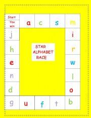 English Worksheet: Phonetic alphabet race