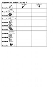 English worksheets the Food worksheets page 458