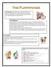 English Worksheets: The Flintstones