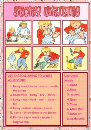 English Worksheets: story writing