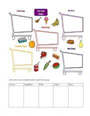English Worksheet: Food Groups Page 2