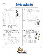 English Worksheets: Special spelling for final
