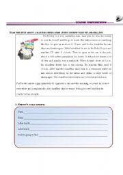 English Worksheet: EATING HABITS- reading comprehension