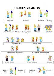English Worksheet: The Simpsons - Family members