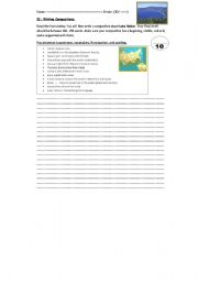 English Worksheets: writing a composition about Lake Baikal