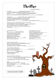 English Worksheets: Michael Jackson�s Thriller