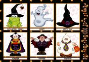 Halloween flashcards - only colour - 1st set