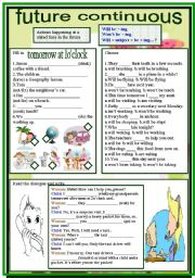Future Continuous - worksheet by Amalia R.