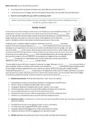 English Worksheet: Revolution in Russia