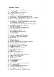 English Worksheets: Correct these sentences