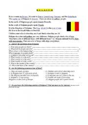 English Worksheets: BELGIUM - basic info, exercises, map