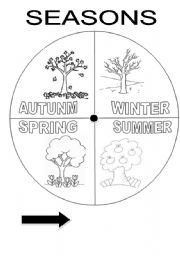 English Worksheet: SEASONS WHEEL