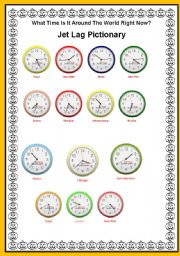 English Worksheet: Telling the time with the Jet lag