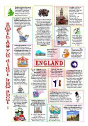 English Worksheet: something u didn´t know about England