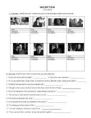 Inception Worksheet