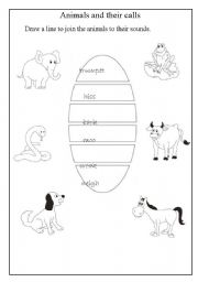 English Worksheets: Animals and their calls