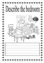 vocabulary worksheets the house the bedroom