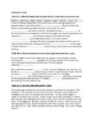 English Worksheet: 1ST TEST FOR 2 ND GRADE TUNISIEN PUPILS