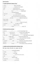 English Worksheets: tesnes revision