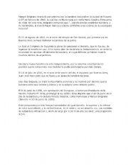 English Worksheets: Belgrano enarbolo la Bandera