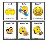 English Worksheet: contractions 4/7