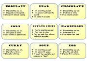 English Worksheet: 3 Clues Card Game