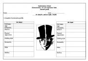 English Worksheet: Dr Jekyll�s  and Mr Hyde