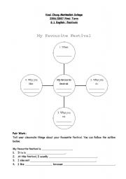 English Worksheets: My favourite festival spider map