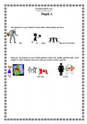 English Worksheets: Where are they from?
