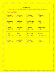 English teaching worksheets: Syllables