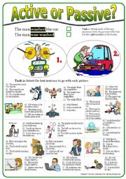 English Exercises: Passive voice in simple past