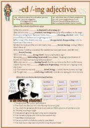 English Worksheet: -ed-/ing adjectives