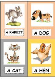 English Worksheets: Farm animals - flashcards